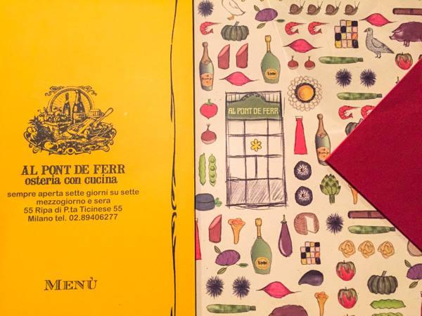 Al Pont de Ferr, il menu