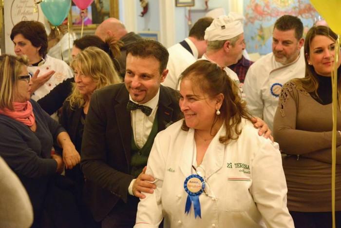 Alla tavola di Rugantino e Pulcinella, Luigi Savino con Carmela Abbate