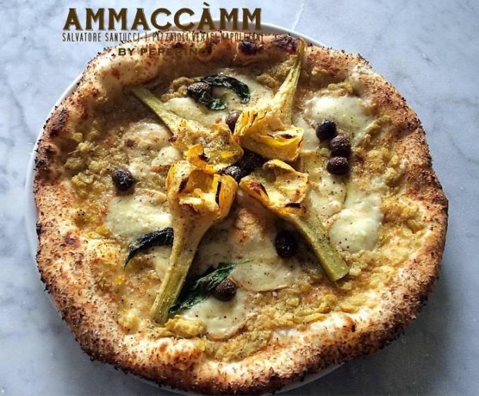 Ammaccàmm, la Carciofata con carciofo Igp di Paestum, provola di Agerola, olive nere Peranzana e pepe