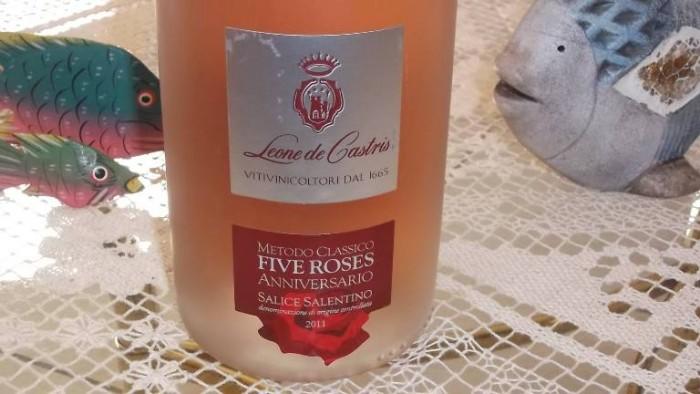 Brut Rosé Spumante Metodo Classico Five Roses Salice Salentino Doc Anniversario 2011 Leone De Castris