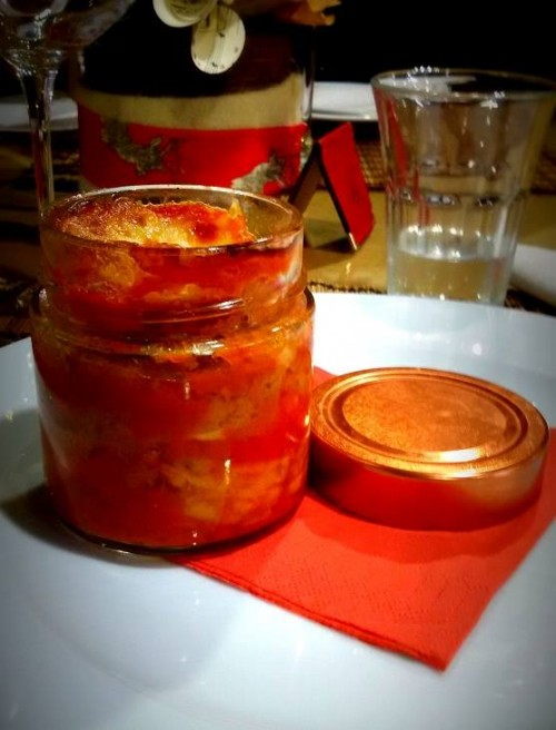 Casa Barbato, la parmigiana con cipolla ramata