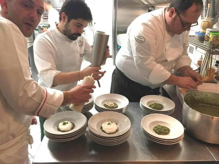 Cena a sei mani all'Osteria Senza Tempo, Cristian Torsiello e Vitantonio Lombardo