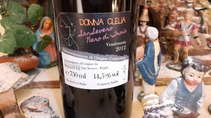 Controetichetta Donna Clelia Nero di Troia San Severo Doc 2012 Pallotta