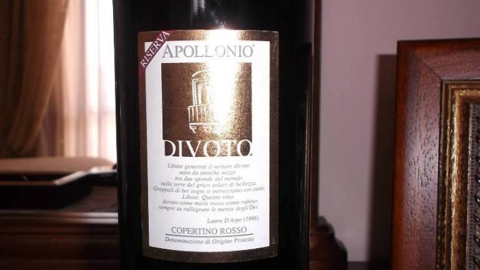 Divoto Copertino Riserva Dop 2011 Apollonio
