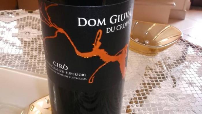 Dom Giuvà Cirò Rosso Classico Superiore Doc 2012 Du Cropio
