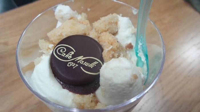 Enoteca Treqquarti, crema di mascarpone con pera e buccia di limone del Caffè Masulli