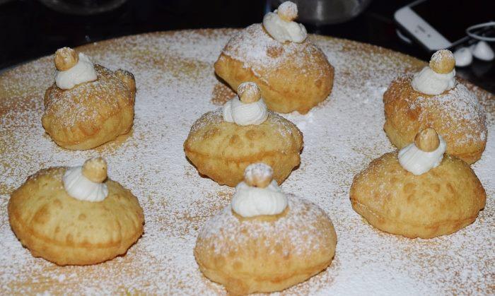 Franco Pepe, le pizzette fritte con ricotta, zucchero e crema alle nocciole
