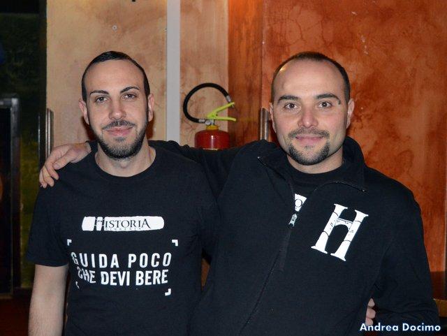 Historia Birreria. Da sinistra, Nicola Pacelli e Mario D'Addio