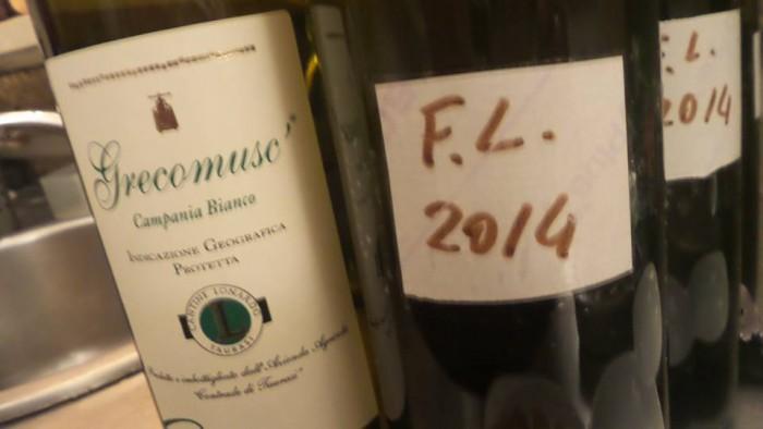 I Taurasi e il Grecomusc di Cantine Lonardo a Cap'alice, alcuni campioni in degustazione