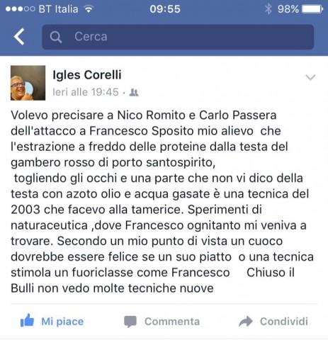 L'intervento di Igles Corelli