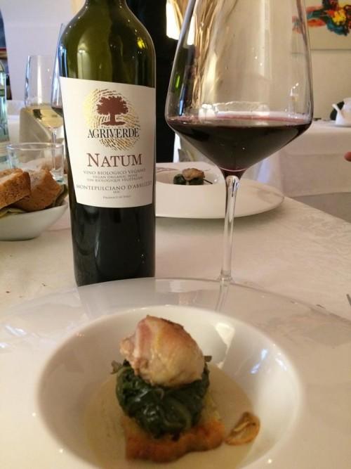 La Neviera, il Natum con Pancotto con petto di quaglia, fagiolo tondino del Tavo e aglio rosso di Sulmona
