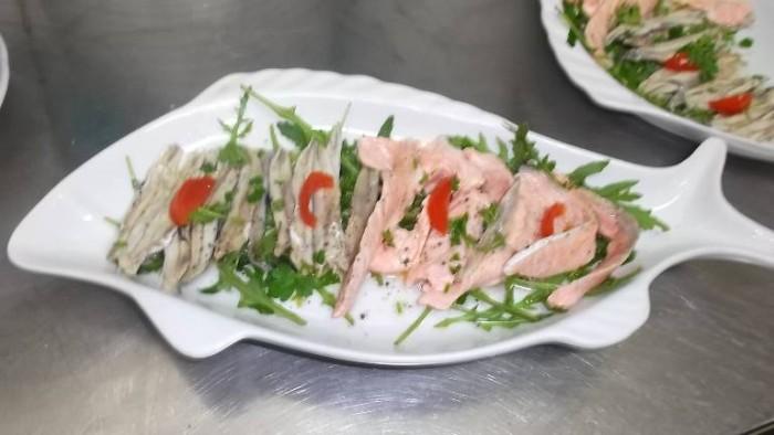 Le Macine, salmone ed alici marinate