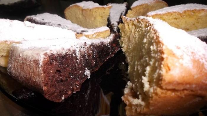 Le Macine, torta caprese e torta di mele
