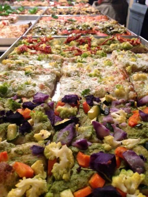 Le pizze in teglia di Michele Leo (foto di Giovanna Califano)
