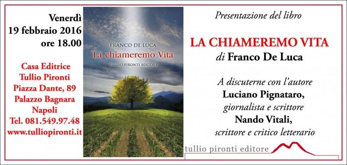La presentazione del libro di Franco De Luca