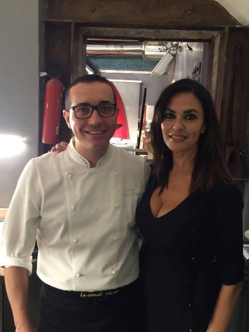 Maria Grazia Cucinotta con Gino Sorbillo