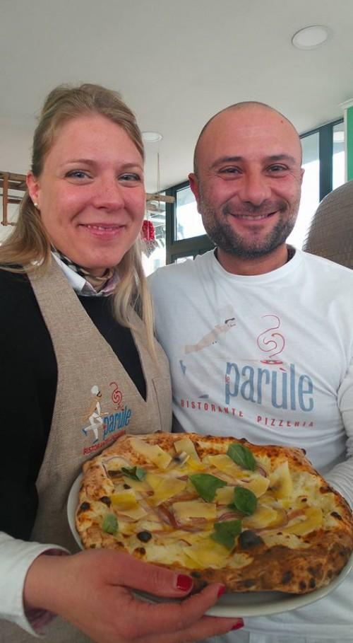 Milena Pepe con Giuseppe Pignalosa