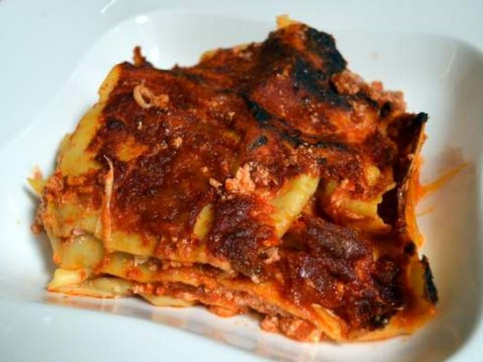 O' Ca Bistrò, la prima lasagna assaggiata