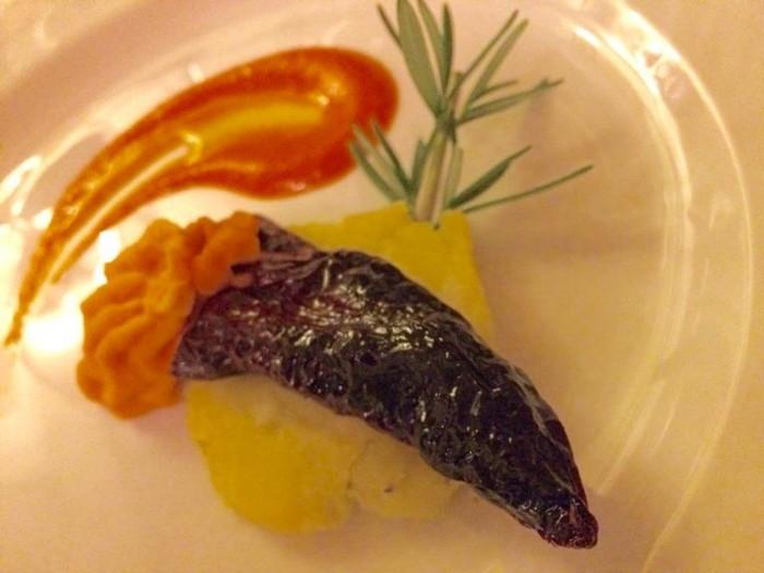 Perbacco, peperone crusco con baccala mantecato e patata al rosmarino