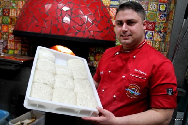Pizzeria 18 Archi. Diego Vitagliano Impasto con le alghe