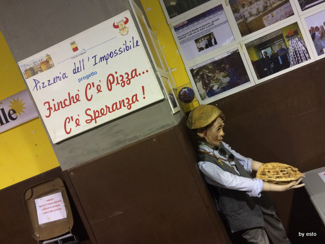 Pizzeria dell'Impossibile. Il motto
