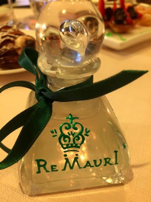Re Mauri, i liquori come centrotavola