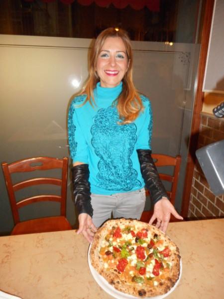Paola Spiezia. Salumificio Spiezia  e Ciro Oliva a Casa  San Remo 2016 con la Pizza San Remo
