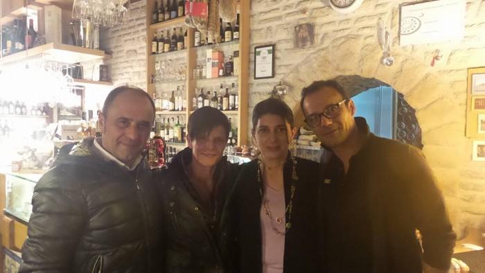da sinistra Ercole e Aurelia Zarrella, Marina Alaimo e Massimo Petrone