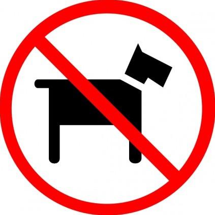 divieto di accesso ai cani nei locali - immagine tratta da canidicitta.wordpress.com