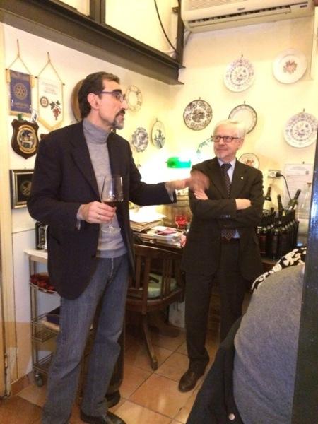 l'enologo Cristoforo Pastore e Leonardo Manganelli (a destra)