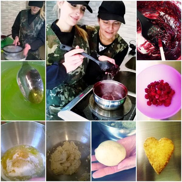 pasta frolla vegana e glassa vegana ai frutti rossi, ricetta di Sabina Baglio e Hortensia Martinez