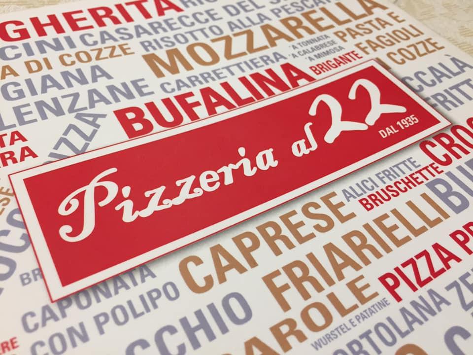 Pizzeria e Trattoria AL 22, il menu