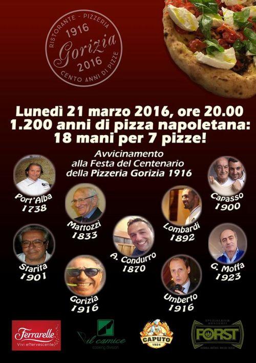 1200 anni di pizza napoletana 18 mani per 7 pizze!