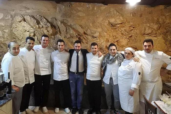 Antica Sicopoli. Cesare Di Grazia e Ciro Longobardi con  Nello Di Caprio e tutto lo staff. Foto di Karen Phillips