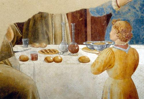 Benozzo Gozzoli il vino a tavola