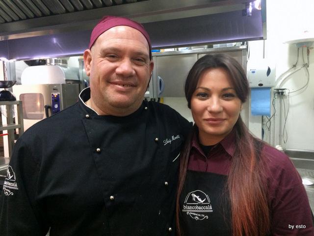 Biancobaccalà Malvi il cuoco Luigi Moretti e Maria Rosaria De Filippo