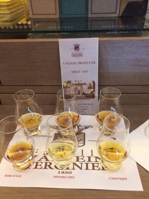Cognac Vallein Tercinier, i sei Cognac degustati