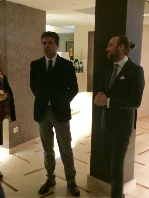 Domenico Patrino a destra con il commerciale di Ferrari