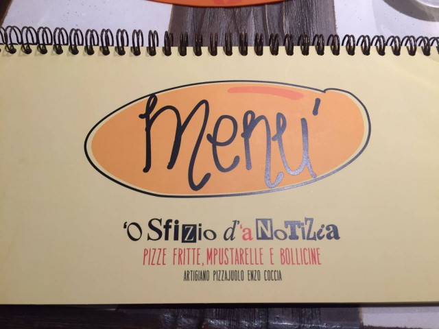 Enzo Coccia, menu