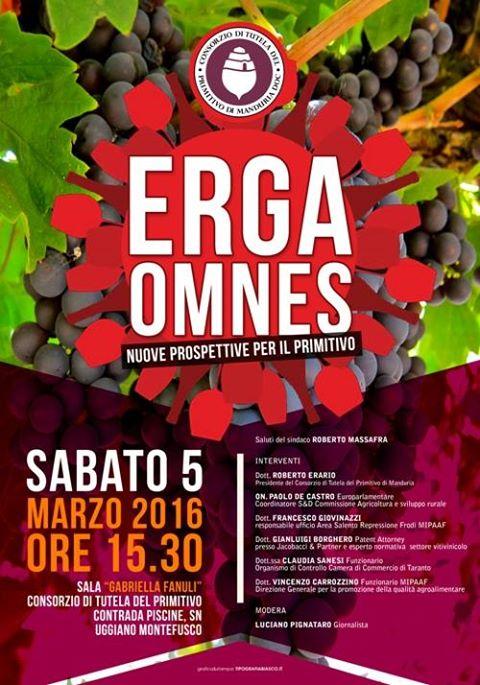 Erga Omnes, nuove prospettive per il Primitivo