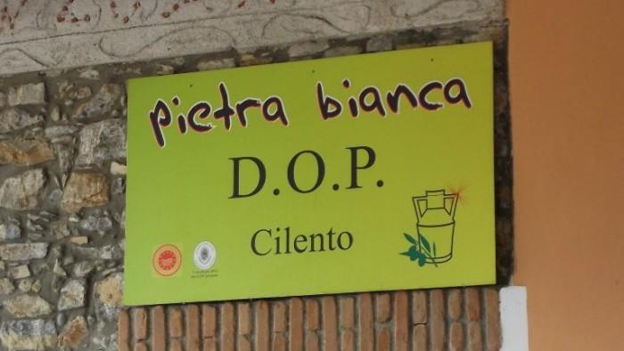 Frantoio Oleario Pietrabianca, insegna Pietra Bianca Dop Cilento