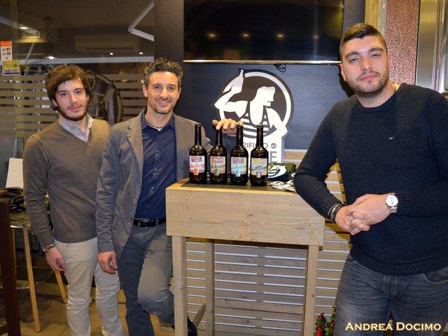Gigione e Birrificio del Forte, da sinistra Andrea Docimo, Francesco Mancini e Gennaro Cariulo