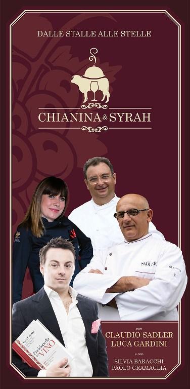 Gli chef stellati Gramaglia, Sadler e Baracchi in scena con carne di bufalo e chianina