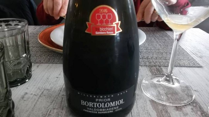 Gusto Over The Sea, Prosecco Superiore Brut Valdobbiadene Docg 2015 Bortolomiol