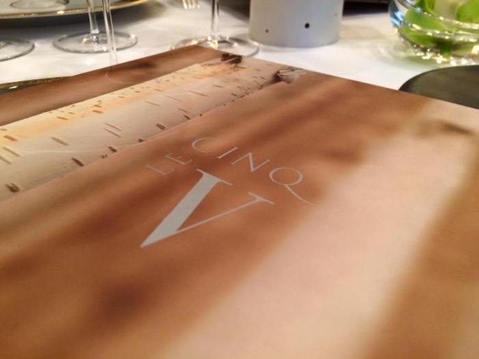 Le Cinq, il menu
