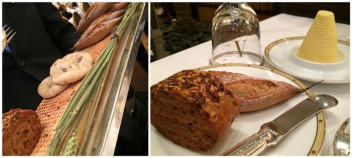 Le Cinq, pane e pane e burro