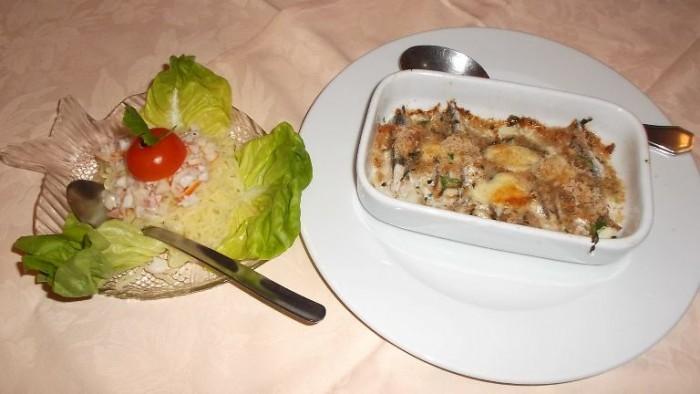 Le Macine, insalata di riso e tortino di alici