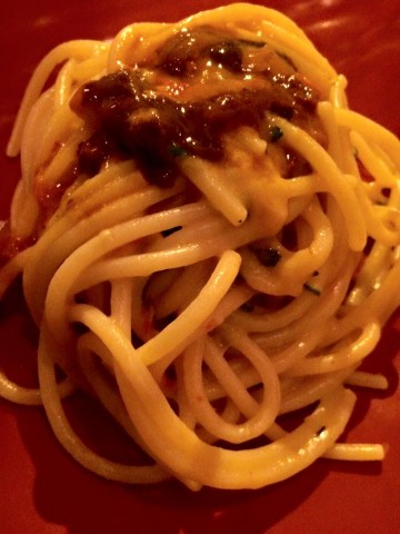 MISTICANZA, spaghettone Vicidomini ai ricci