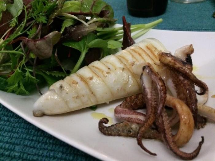 Mariterraneo, calamaro alla griglia