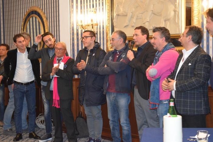 Maurizio Cortese con alcuni dei suoi amici chef e pizzaioli